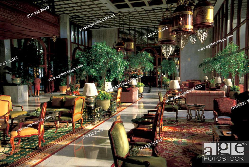 Imagen: The lobby of the Mandarin Oriental Hotel, Bangkok.