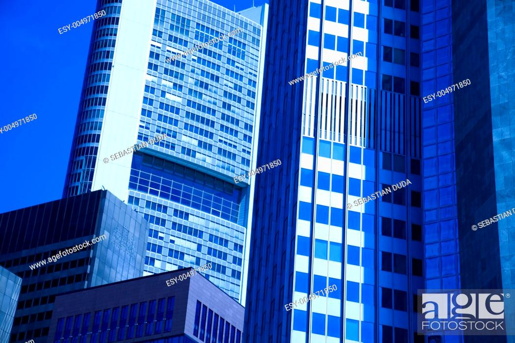 Stock Photo: Corporate buildings in perspective.