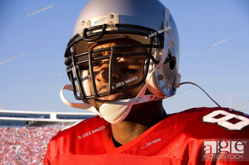 Stock Photo: Close up of football player.
