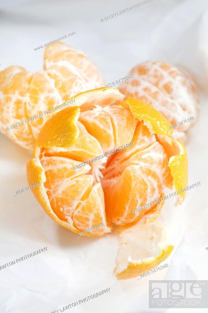 Stock Photo: Mandarinas.