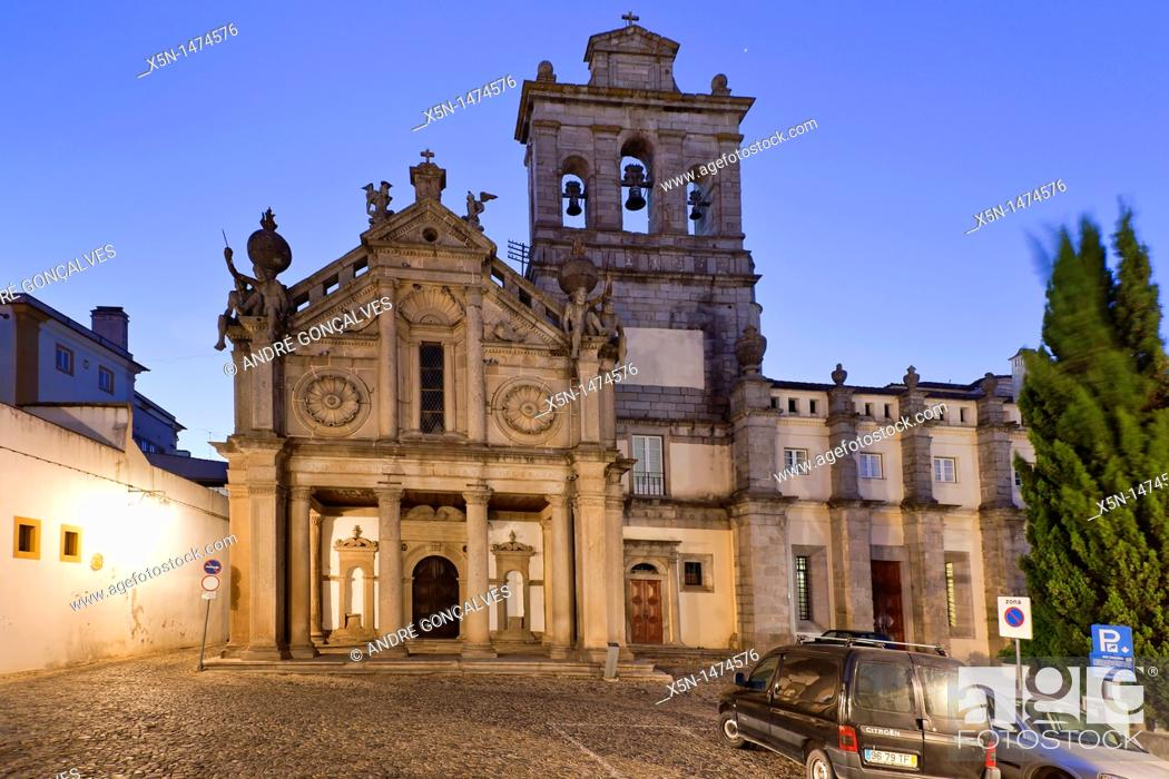 Stock Photo: Graça Church, Evora, Portugal, Europe.
