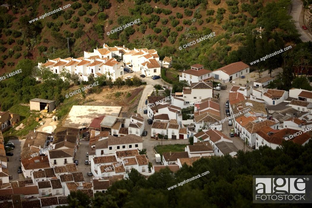 Stock Photo: El Gastor village in the Sierra de Grazalema Natural Park, Cadiz province, Andalusia, Spain, april 25, 2011.