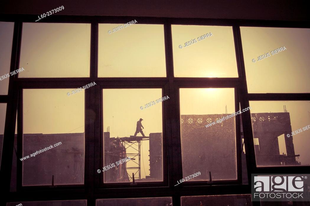 Stock Photo: Working in Hanoi. Vietnam.