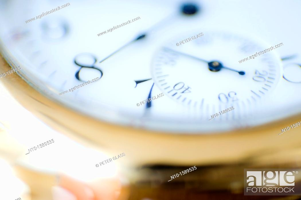 Stock Photo: Close-up of a pocket watch.