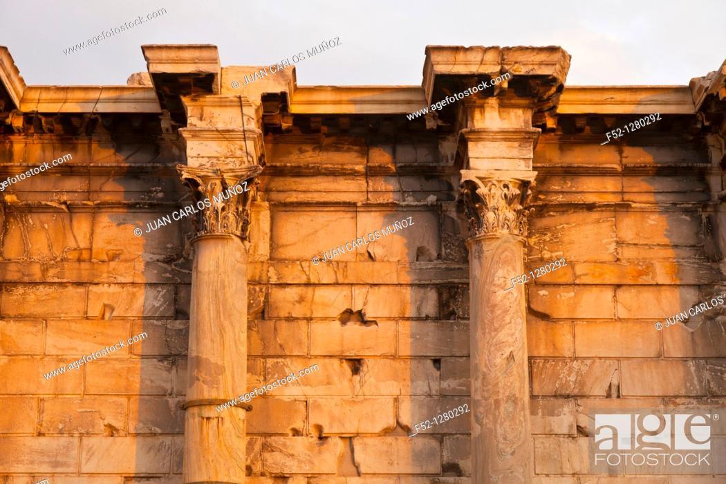 Stock Photo: Library of Adriano, Roman Agora Acropolis, Athens, Greece.