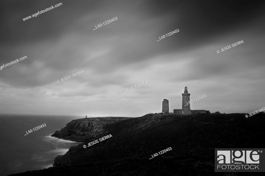 Stock Photo: Cap Frehel lighthouse, France.