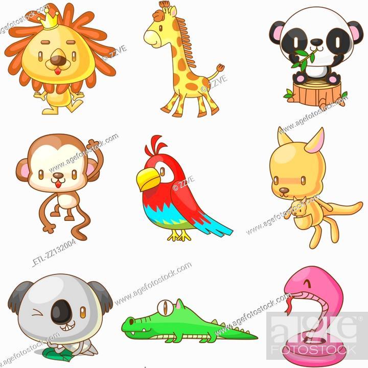 Stock Photo: various animals.