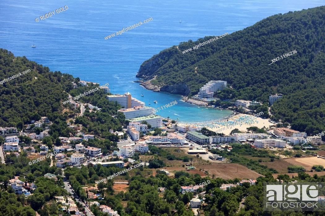 Cala Llonga, Ibiza, Balearic Islands, Spain, Stock Photo