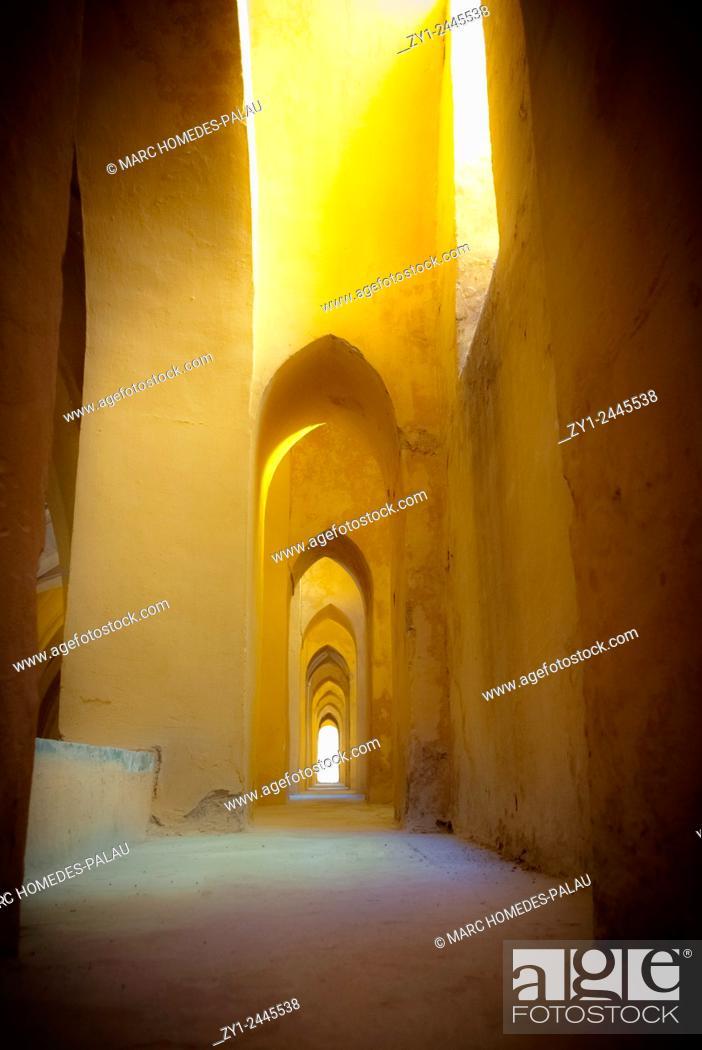 Stock Photo: Inside the Alcazar of Seville.
