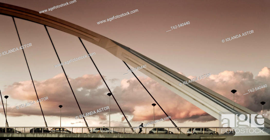 Stock Photo: Barqueta Bridge. Sevilla. Andalucia. Spain.