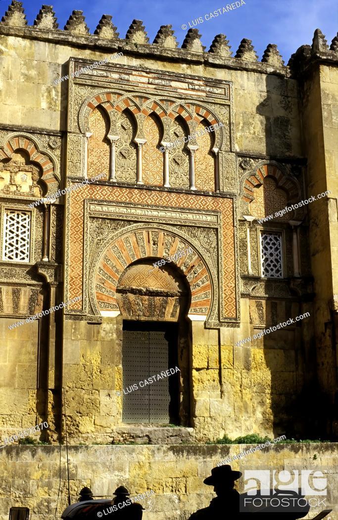 Stock Photo: Abderraman Gate. . The Mosque. . Corboda (Andalucia). Spain.