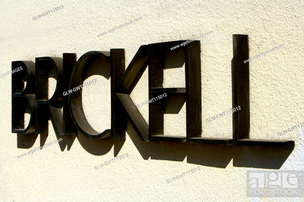 Stock Photo: Close-up of text on a wall, Miami, Florida, USA.