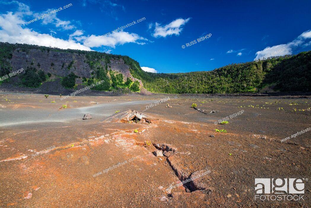 Imagen: Fissures in the Kilauea Iki caldera, Hawaii Volcanoes National Park, Hawaii USA.