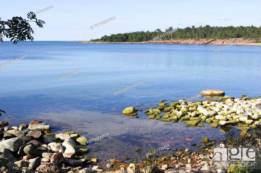 Stock Photo: Calm, Coast, Day, Horizon.