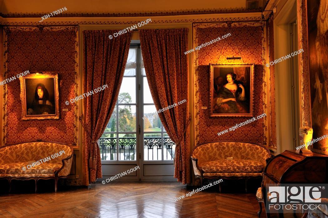 Stock Photo: the Grand Salon, Chateau de Maintenon, Eure-et-Loir department, Centre region, France, Europe.