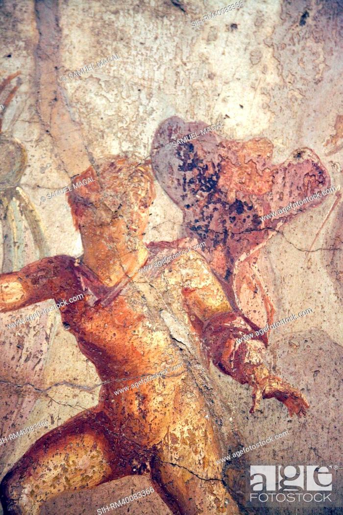 Stock Photo: Italy, Naples, Naples Museum, Pompeii, Caecilius Lucundus House V 1, 26, Theseus and Ariadne.