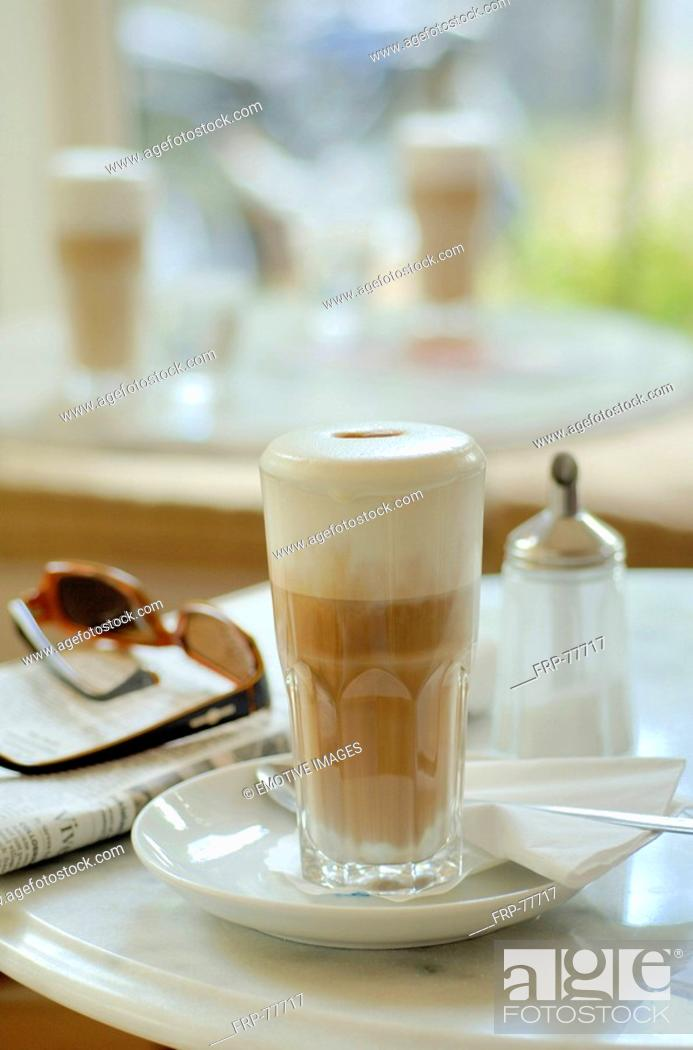 Stock Photo: Latte in a Café.