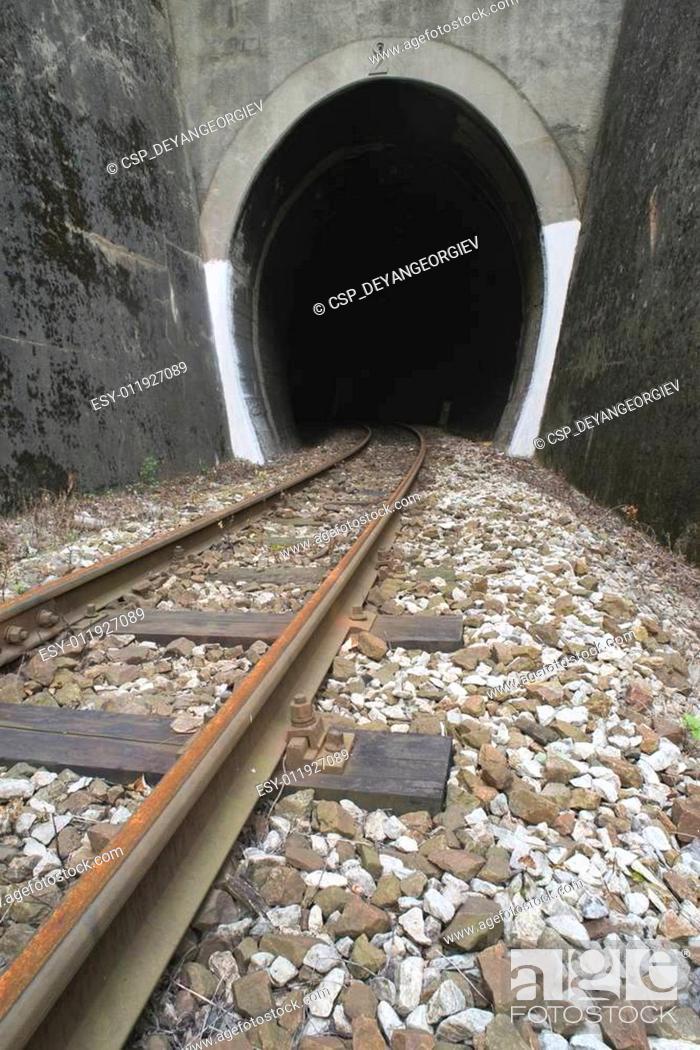 Stock Photo: Train tunnel.