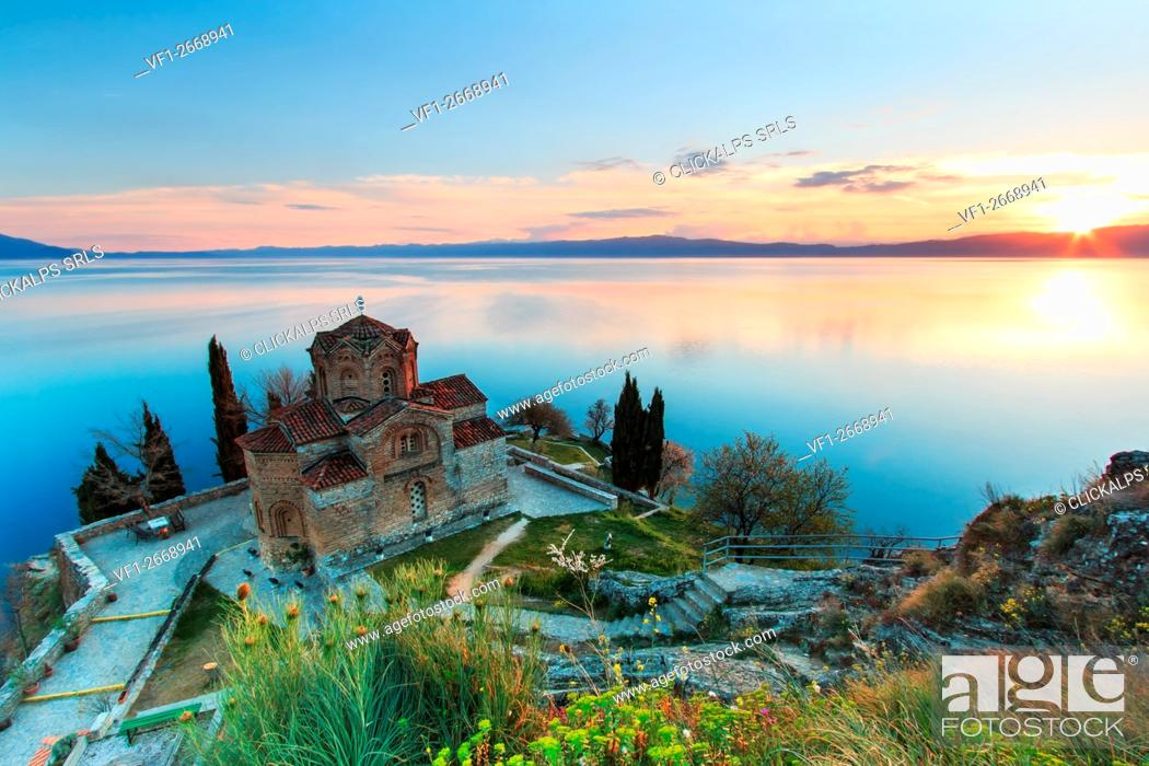 Photo de stock: Sveti (Saint) Jovan Kaneo Church on Lake Ohrid, Macedonia.