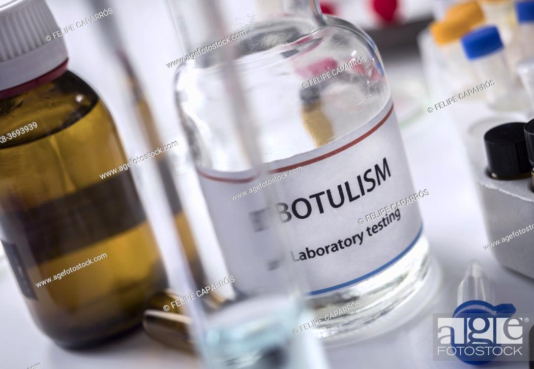 Stock Photo: Botulism samples in laboratory, conceptual image.