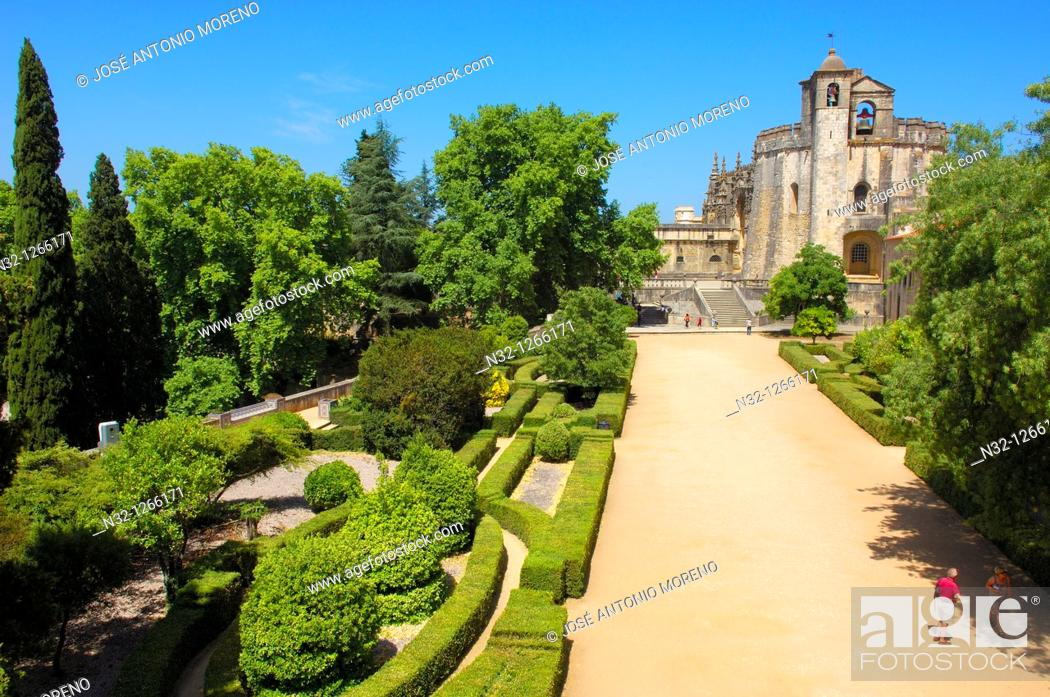 Stock Photo: Tomar, Convent of the Order of Christ, Santarem District, Ribatejo, Portugal.