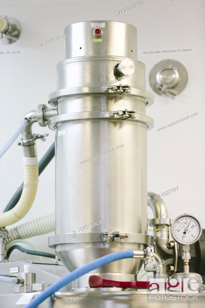 Stock Photo: Machinery in a pharmaceutical industry.