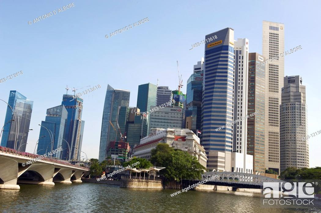 Stock Photo: The Central Business District seen from Singapore river  singapore.