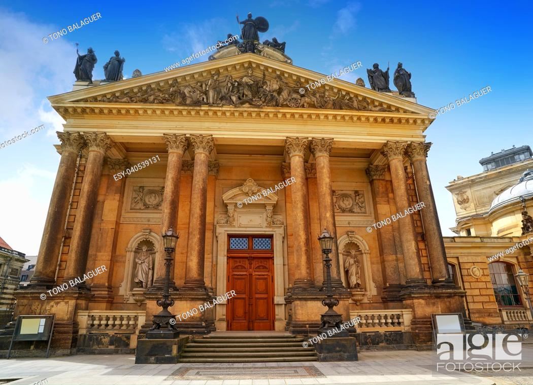 Photo de stock: The Kunsthalle in Lipsius Bau building LipsiusBau at Dresden of Germany.