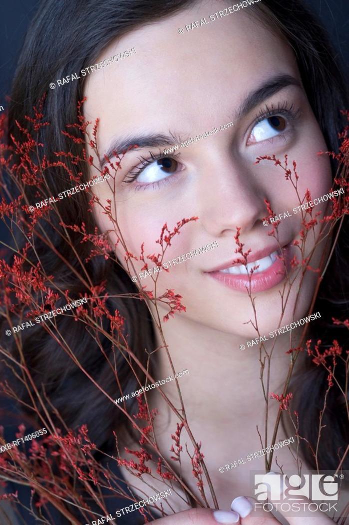 Stock Photo: portrait of beautyful woman.