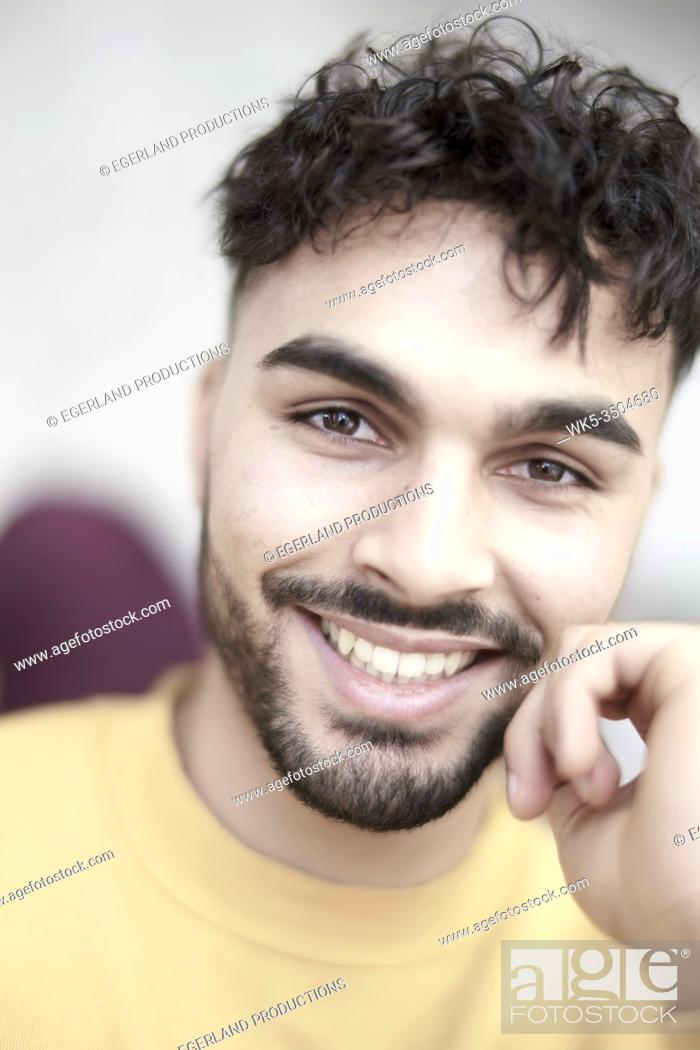 Stock Photo: Close-up portrait of young man.