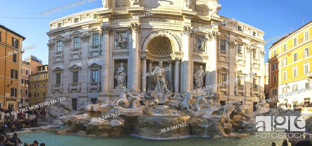 Stock Photo: Trevi fountain in Rome (Italy).