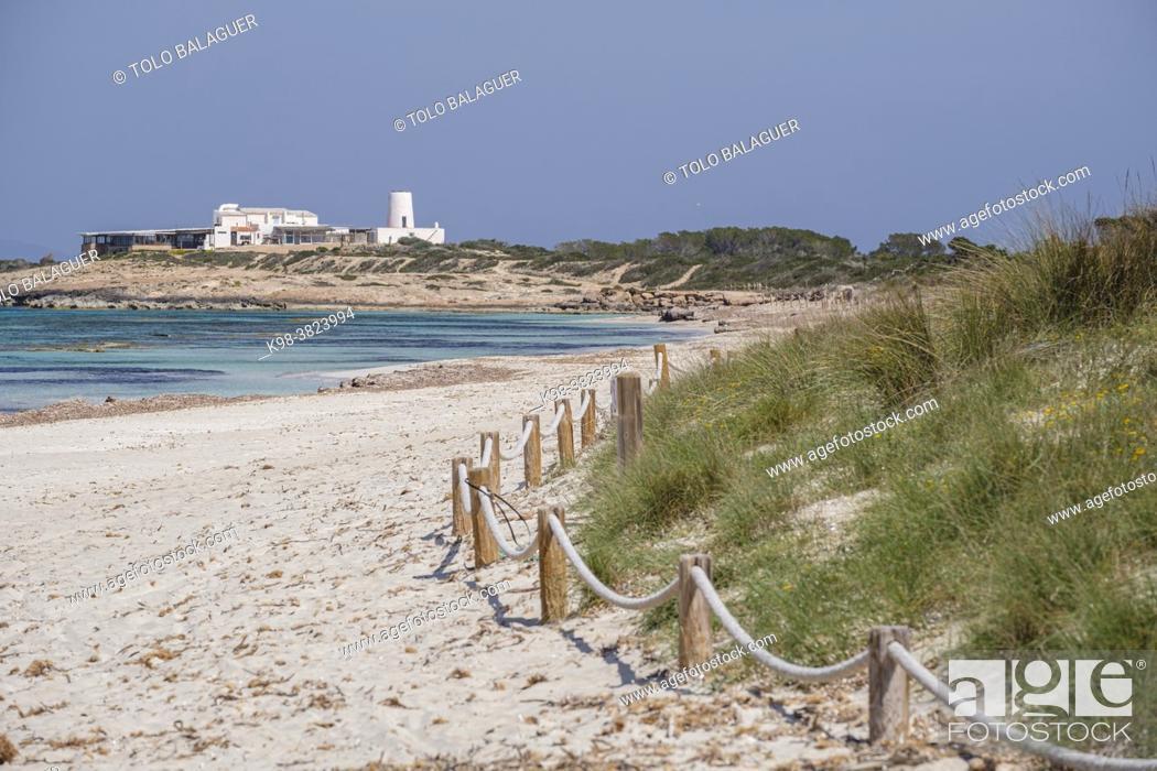Stock Photo: Es Cavall den Borras beachs, Formentera, Pitiusas Islands, Balearic Community, Spain.