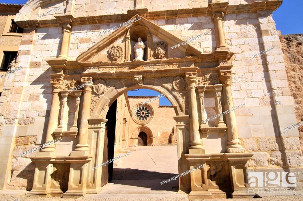 Stock Photo: Cistercian Royal Monastery of Santa María de Huerta, Soria Castile-leon Spain.