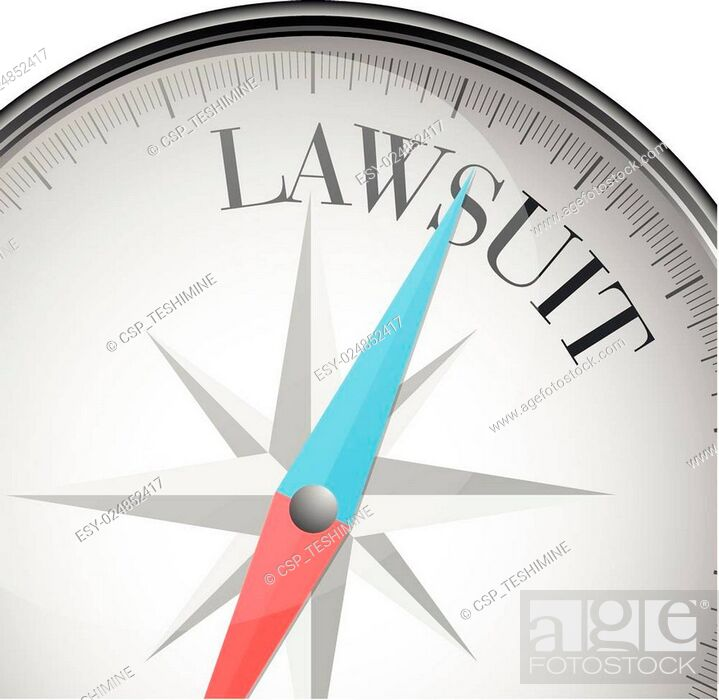 Stock Vector: compass Lawsuit.