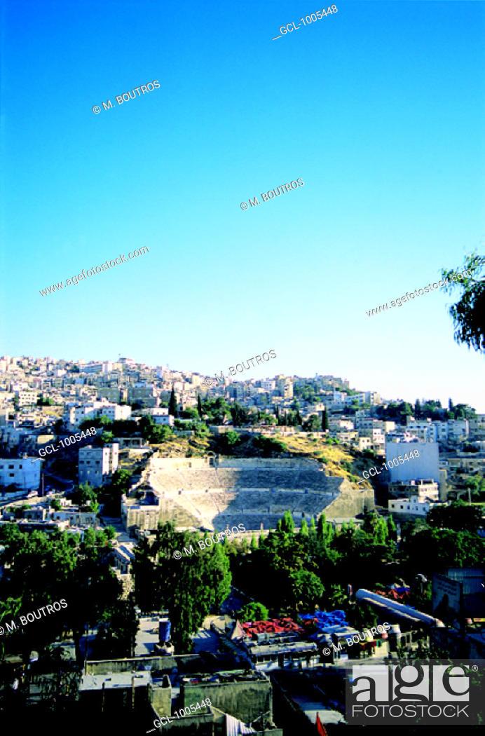 Stock Photo: The Roman Theatre in Amman, Jordan.