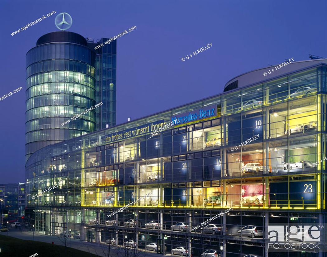 germany bavaria munich mercedes 39 benz buildings. Black Bedroom Furniture Sets. Home Design Ideas
