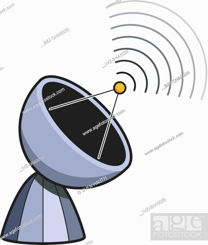 Stock Photo: Satellite dish.