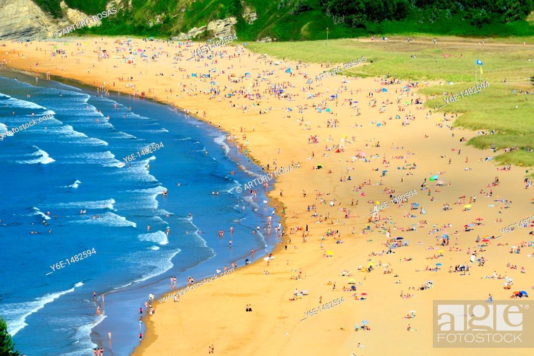 Stock Photo: Rodiles Beach, Asturias, Spain.