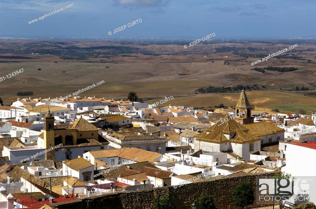 Stock Photo: Overview, Medina Sidonia, Cadiz province, Andalucia, Spain.