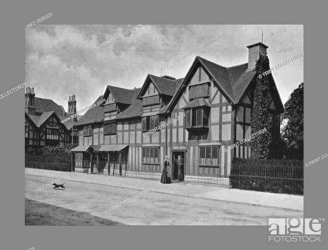 Stock Photo: Shakespeare's House, Stratford-on-Avon, c1900. Artist: Harvey Barton.