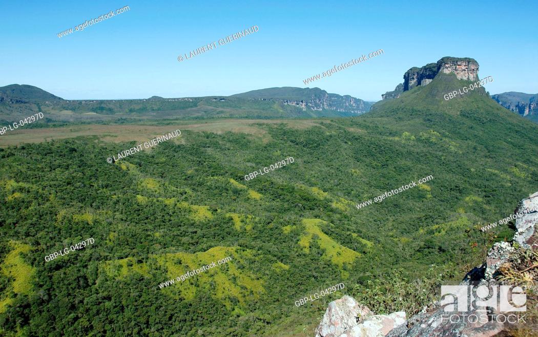 Stock Photo: Landscape, Vale do Paty, Chapada Diamantina, Bahia, Brazil.