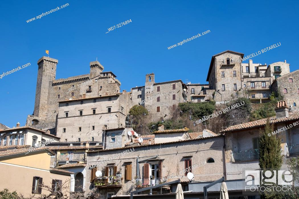 Stock Photo: View of Bolsena town, near Bolsena lake, in Lazio, Italy.