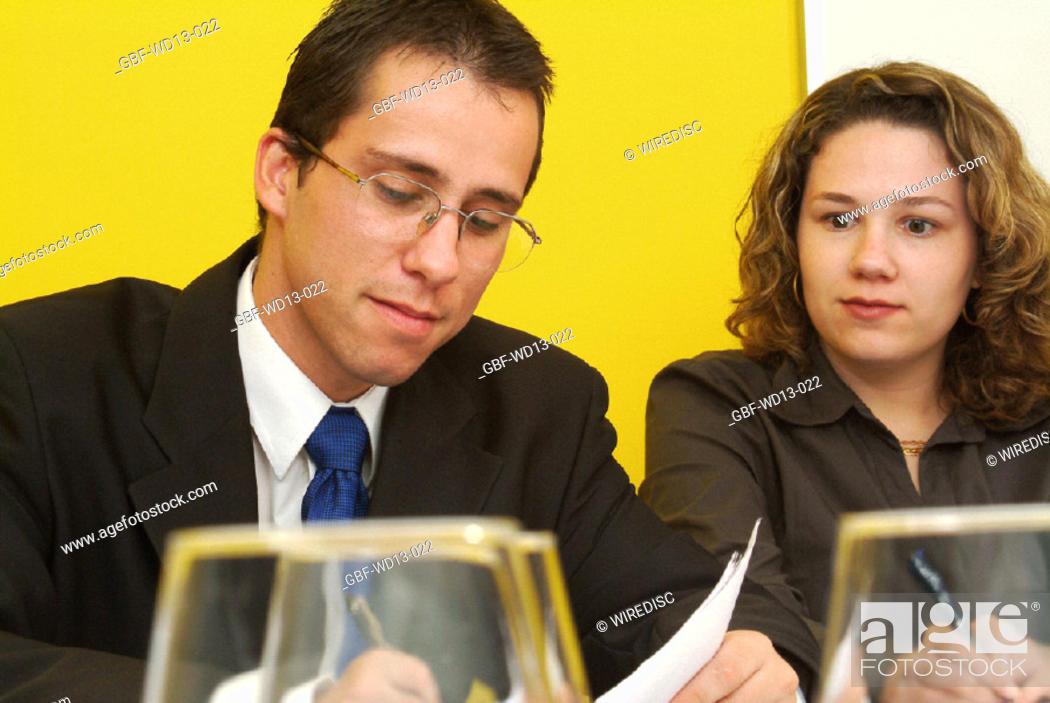 Stock Photo: Businesseman, man, woman, executive, Brazil.