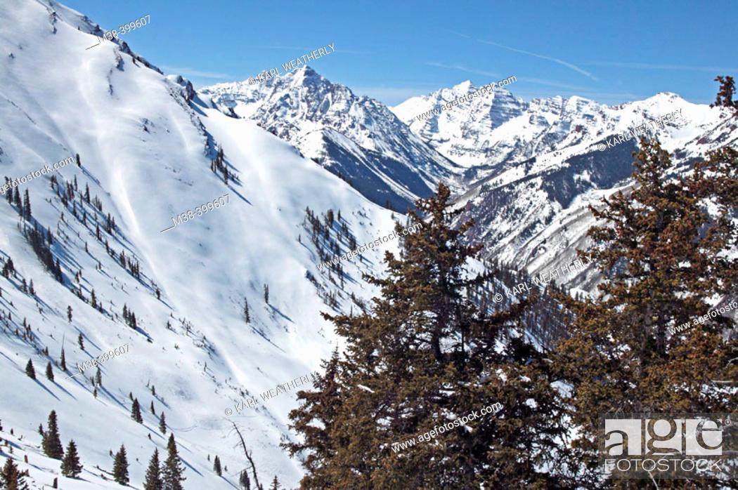 Maroon Bells And Pyramid Peak View From Ski Patrol Building