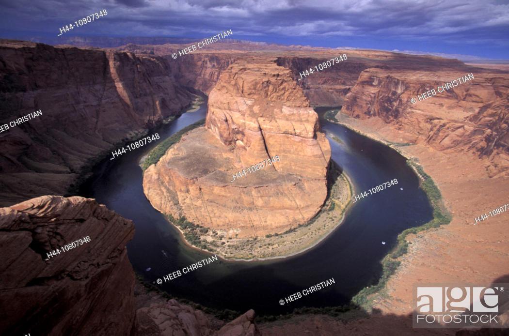 Stock Photo: America, Arizona, Color, Colorado River, Colour, Glen Canyon National Recreation Area, Horseshoe Bend, United States.