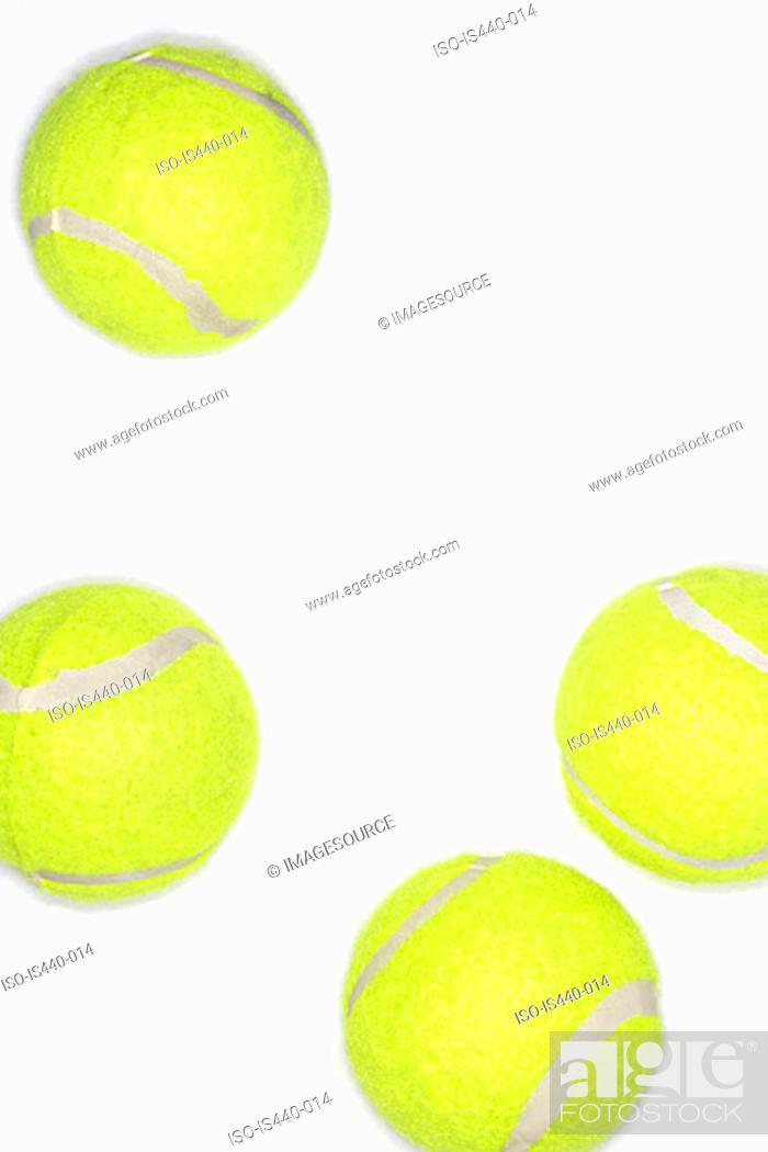 Stock Photo: Tennis balls.