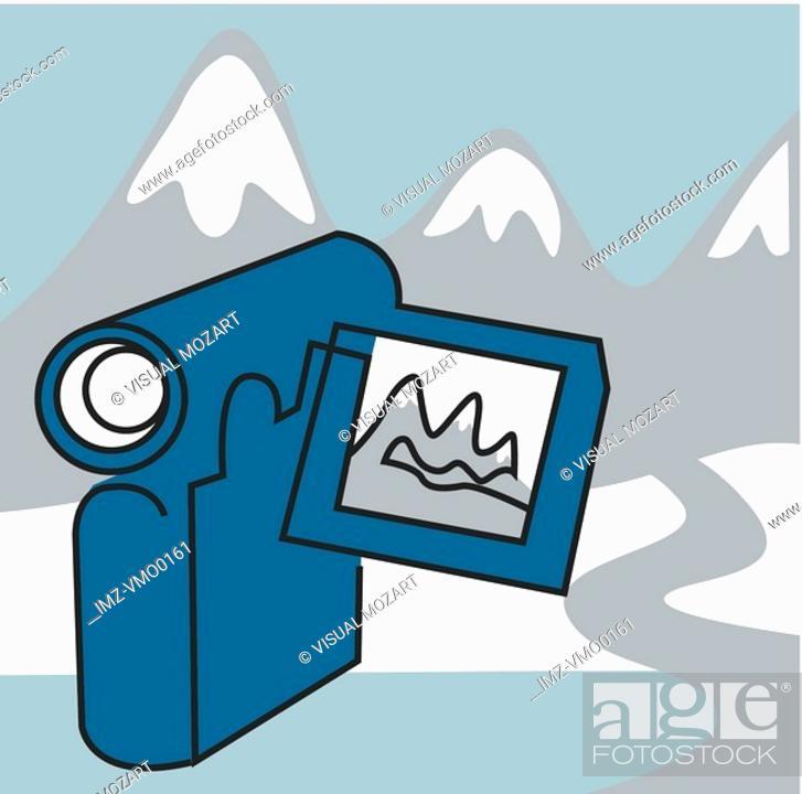 Stock Photo: Hand-held video recorder.