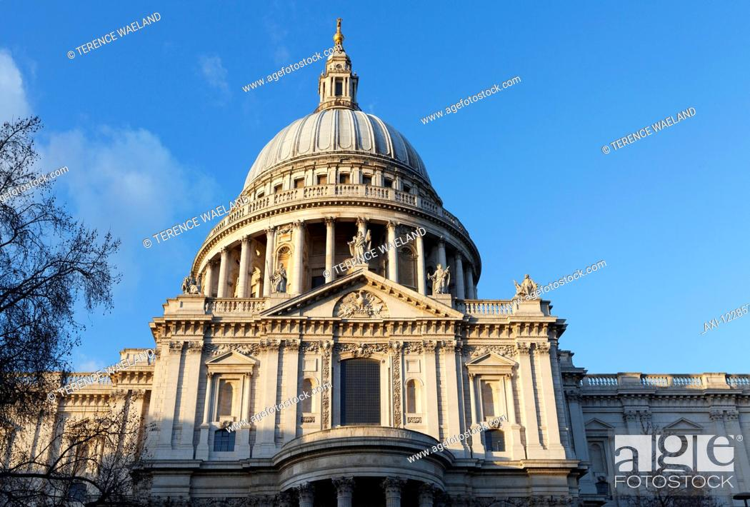 Stock Photo: St. Paul's Cathedral; London, England.
