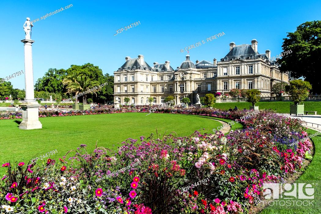 stock photo le jardin du luxembourg gardens in paris france - Le Jardin Du Luxembourg