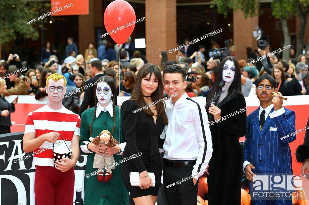 Imagen: Eleonora Gaggero, Luciano Spinelli during the red carpet of cartoon ' La famiglia Addams ' at the 14th Rome Film Festival, Rome, ITALY-20-10-2019.